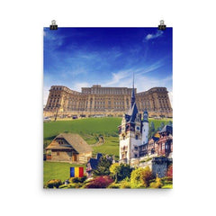 Romanian Landmarks Poster - Nation Love