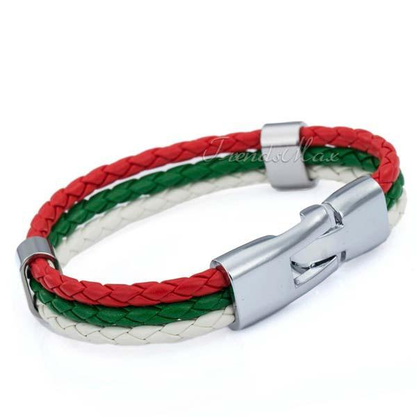 Bulgarian Flag Leather Bracelet [one size] - Nation Love