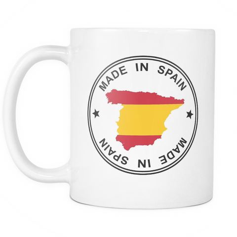 Made in Spain 11oz Ceramic Coffee Mug - Nation Love