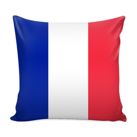 French Flag Decorative Pillow Case