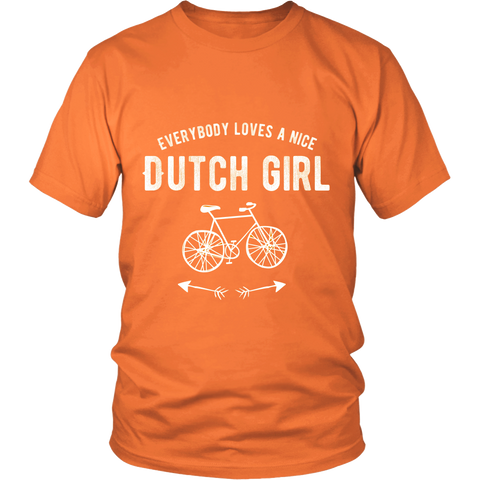 'Everyone Loves a Nice Dutch Girl Orange T-shirt [2 Variations] - Nation Love