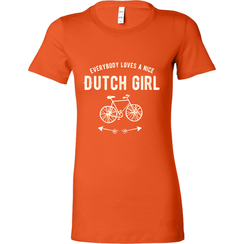 'Everyone Loves a Nice Dutch Girl Orange Dutch T-shirt [2 Variations] - Nation Love