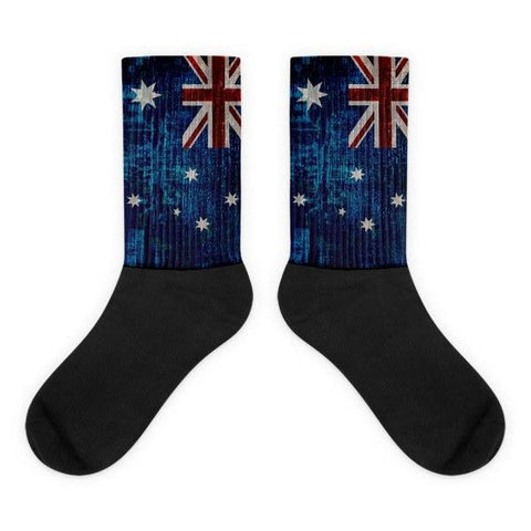 Australian Flag Novelty Socks, cool socks, novelty socks, dress socks, black and blue