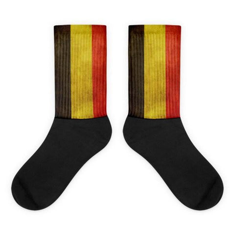 Belgian Flag Novelty Socks - Nation Love