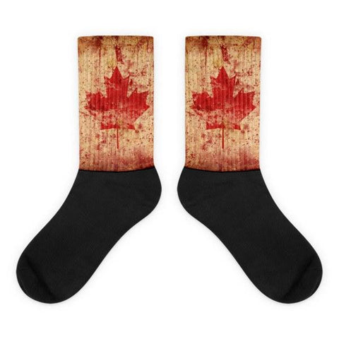 Canadian Flag Novelty Socks - Nation Love