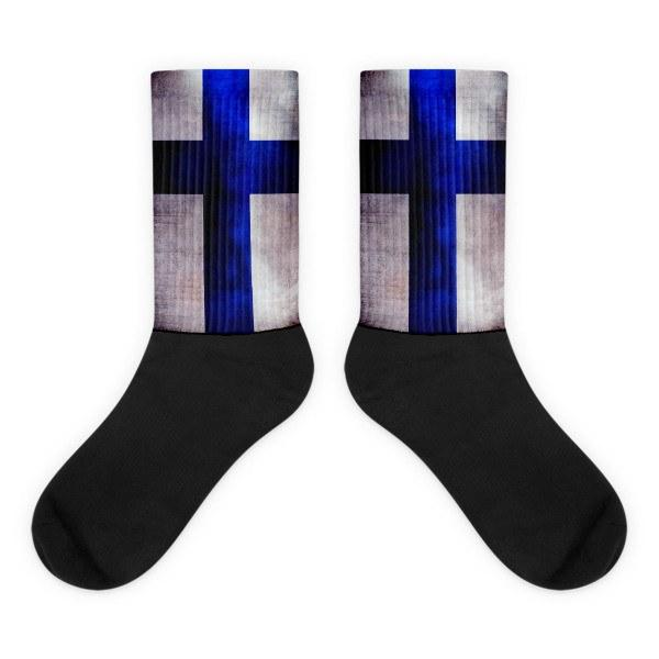 Finnish Flag Novelty Socks - Nation Love
