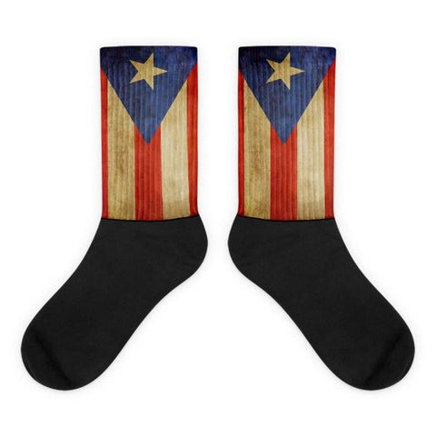 Puerto Rico Flag Novelty Socks - Nation Love