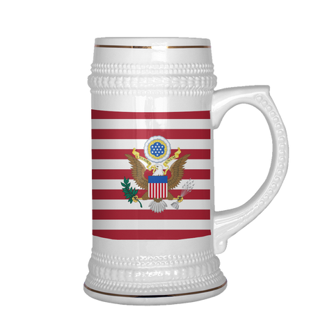 American Coat of Arms 22oz Beer Stein
