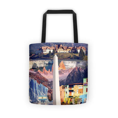 Argentinian Landmarks Printed Tote Bag - Nation Love