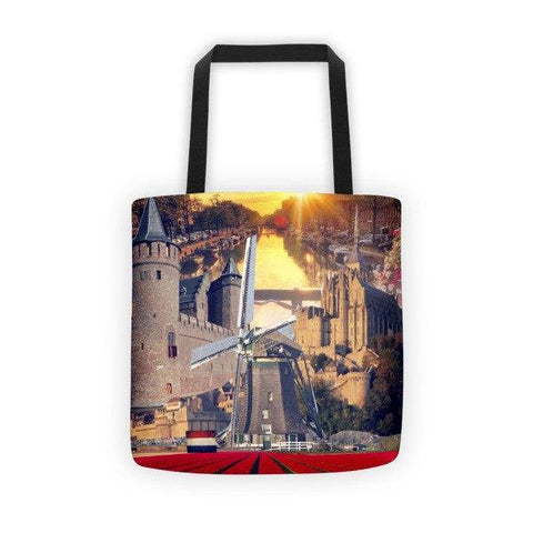 Dutch Landmarks Printed Tote Bag - Nation Love