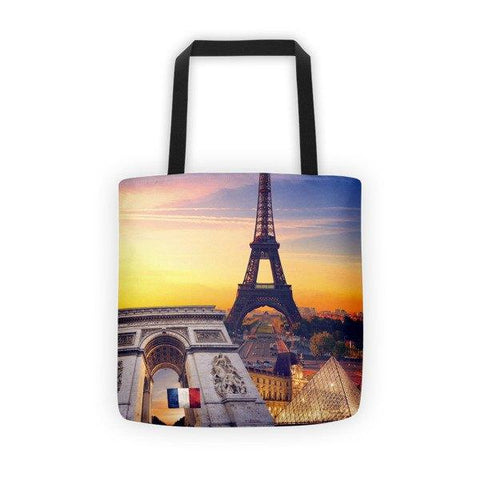 French Landmarks Printed Tote Bag - Nation Love