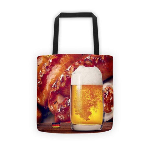 German Beer and Sausage Printed Tote Bag - Nation Love