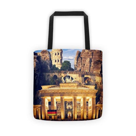 German Landmarks Printed Tote Bag - Nation Love