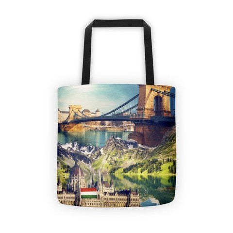 Hungarian Landmarks Printed Tote Bag - Nation Love