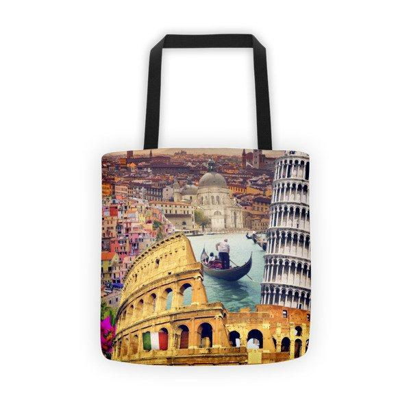 Italian Landmarks Printed Tote Bag - Nation Love