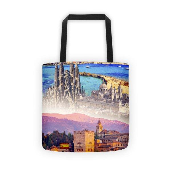 Spanish Landmarks Printed Tote Bag - Nation Love
