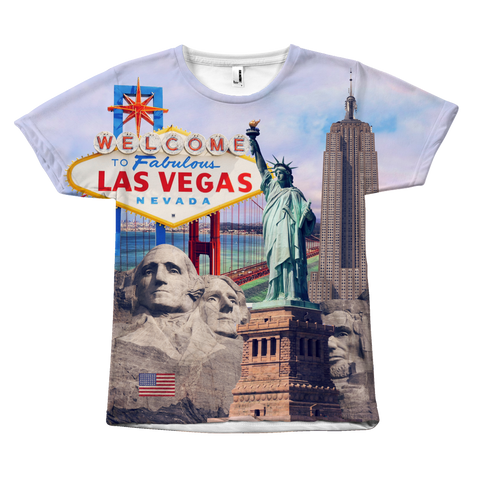United States Landmarks Unisex T-Shirt - Nation Love