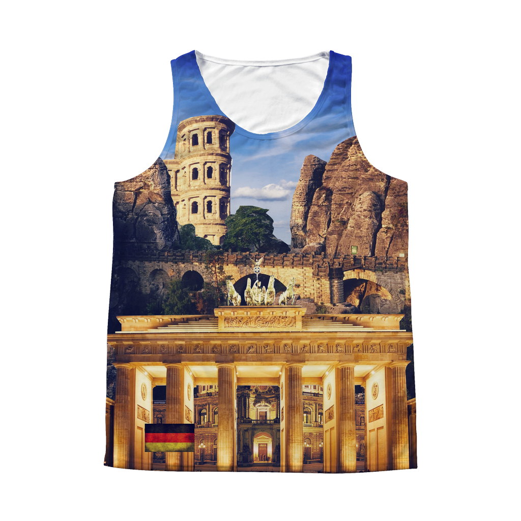 Germany Landmarks Unisex Tank Top