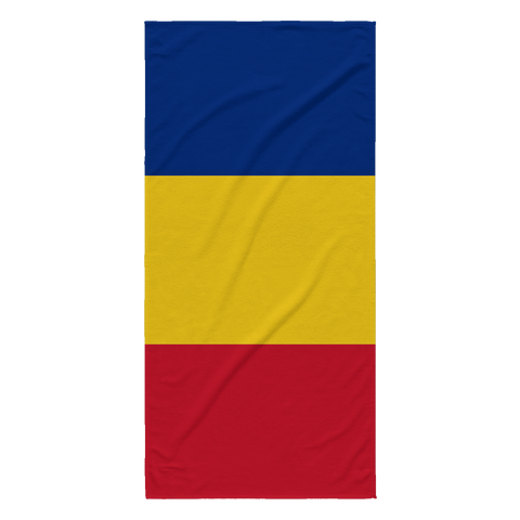 Romanian Flag Beach Towel