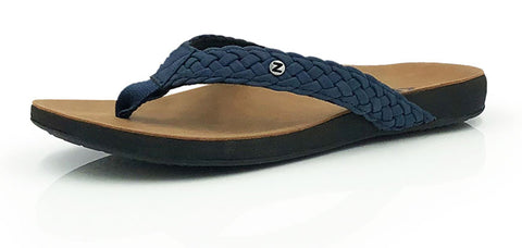 Xanthe - women's orthotic thong - Navy