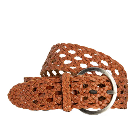 Boston Braid Belt Tan