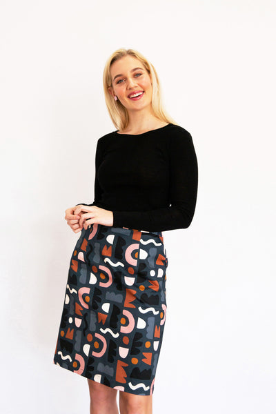Gather Pocket Skirt