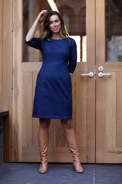 Denim Sleevie Pocket Dress