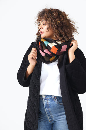 Block Party Merino Wool Scarf - PREORDER FOR LATE MAY DELIVERY