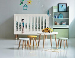 FLEXA Baby Cot to Bed with Mattress