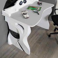ABS Dash Racer Desk-White