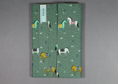 Pnovae Cloth Covered Notebook - Horse