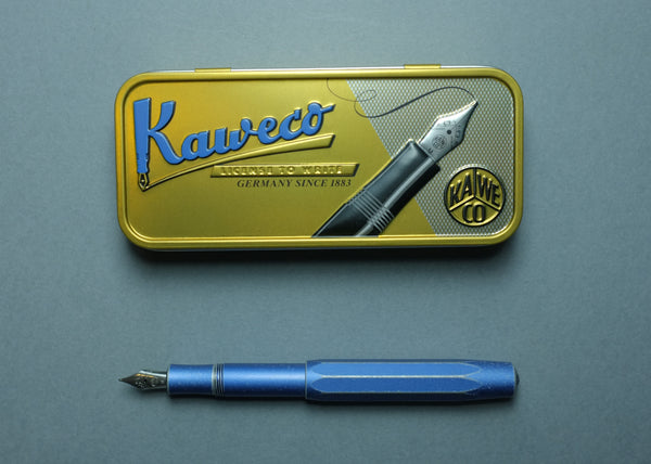 Kaweco AL Sport Stonewashed Fountain Pen Blue