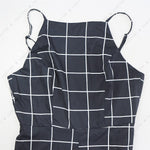 Load image into Gallery viewer, Sexy Women's Spaghetti Strap Plaid Backless Wide Leg Jumpsuit Overalls with Belt