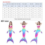 Load image into Gallery viewer, Kids Girls 3Pcs Mermaid Tail Swimming Bikini Set Swimwear Sparkle Swimmable