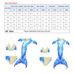 Load image into Gallery viewer, Swimmable Mermaid tails 3Pcs monofin Bikini Girls kids Cosplay Gift Swimwear