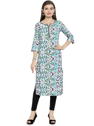 Enchanted Drapes Multicolor Women's Crepe Kurti
