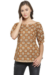 Enchanted Drapes Women's Golden Block Top