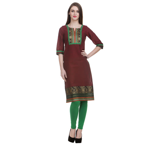 MaroonYog Style South Cotton Kurti