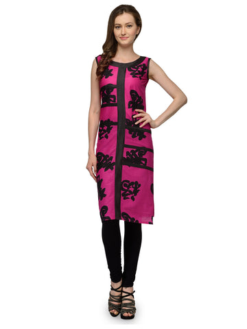 Pink Chinese Cotton Kurti