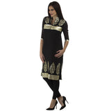 Enchanted Drapes Black Jute Kurti