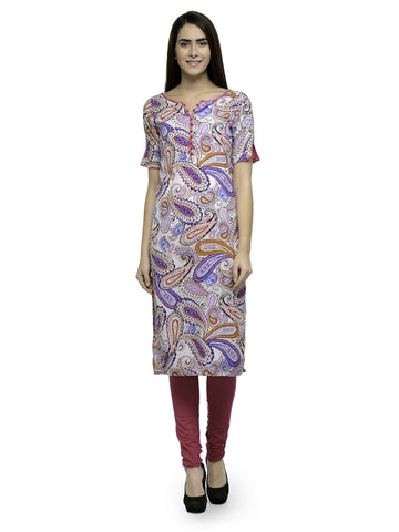 Enchanted Drapes Multicolored Crepe Kurti