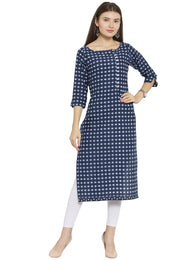 Enchanted Drapes Blue Jaipuri Women's Cotton Kurti