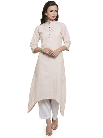 Enchanted Drapes Women's Cream Cotton Kurti