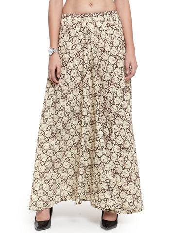 Enchanted Drapes Women's Viloet Printed Cottom Skirt