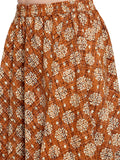 Enchanted Drapes Women's Golden Block Printed Cotton Skirt