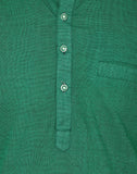 Enchanted Drapes Green Plain Men's Long Kurta