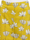 Enchanted Drapes Women's Yellow Printed Cotton Palazzo