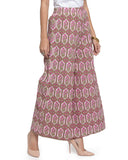 Enchanted Drapes Women's Pink Hexagon Printed Cotton Palazzo