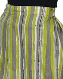 Enchanted Drapes Green Stripes Women's Cotton Palazzo