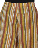 Enchanted Drapes Women's Yellow Stripes Cotton Palazzo